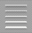 creative of empty shelves set vector image vector image
