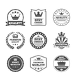 Crown labels icon set vector image vector image