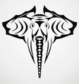 Elephant Head Tattoo Design vector image vector image