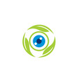 eye care leaf vector image