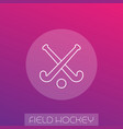 field hockey linear icon vector image vector image