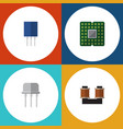 flat icon technology set of coil copper resist vector image vector image