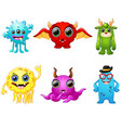 halloween monster set collection vector image vector image