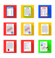 isolated object of form and document icon set of vector image