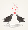 Love a bird2 vector image vector image