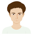 Man with happy face vector image vector image