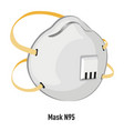 mask n95 with filter and straps for protection vector image