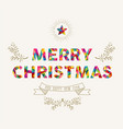merry christmas and new year low poly holiday card vector image vector image
