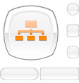 Network white button vector image vector image
