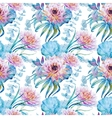 Nice floral watercolor seamless pattern vector image vector image