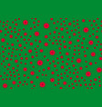 pattern on the green background vector image vector image