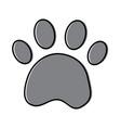 paw print pet shop concept vector image vector image
