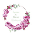 peony wedding wreath watercolor birthday women vector image vector image