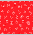 Present seamless pattern background vector image
