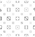 random icons pattern seamless white background vector image vector image