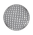 retro golf ball vector image