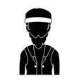 rough motorcyclist with bandana avatar character vector image