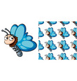 seamless background design with cute butterfly vector image vector image