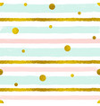 seamless pattern with golden circles vector image