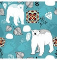 Seamless pattern with white polar bear vector image vector image