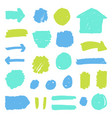 set of paint grunge badges vector image vector image