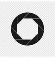 shutter camera icon vector image vector image