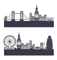 silhouette background abstract london skyline vector image
