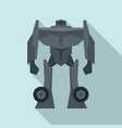 soldier robot transformer icon flat style vector image vector image