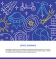 space elements concept background in line style vector image vector image