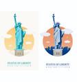 statue liberty world landmark american symbol vector image vector image