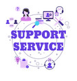 support service concept support service concept vector image