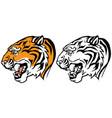 tiger head profile vector image vector image