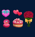 valentines day love holiday gifts hearts cake vector image