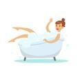 woman taking bubble bath part of people