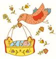 bird baby vector image
