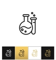 Flask and beaker equipment lab icon vector image