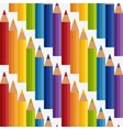 colored rainbow pencils seamless pattern vector image