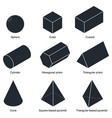 3d shape set vector image