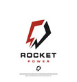 a modern masculine minimalist rocket logo vector image vector image