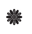 astra flower black concept icon astra vector image