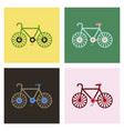 bike icon flat in black on white background eps 10 vector image vector image
