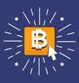 bitcoin gold button vector image