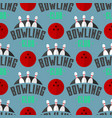bowling emblem seamless pattern background vector image vector image