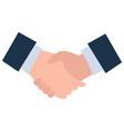 business deal partners handshake agreement vector image vector image