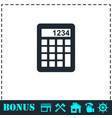 calculator icon flat vector image vector image