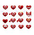 cartoon hearts vector image vector image
