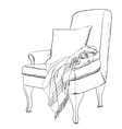 Chair sketch style Blanket on vector image vector image