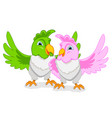 cheerful parrot vector image vector image