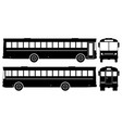 city bus black icons vector image vector image