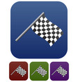 classic racing flag icons vector image